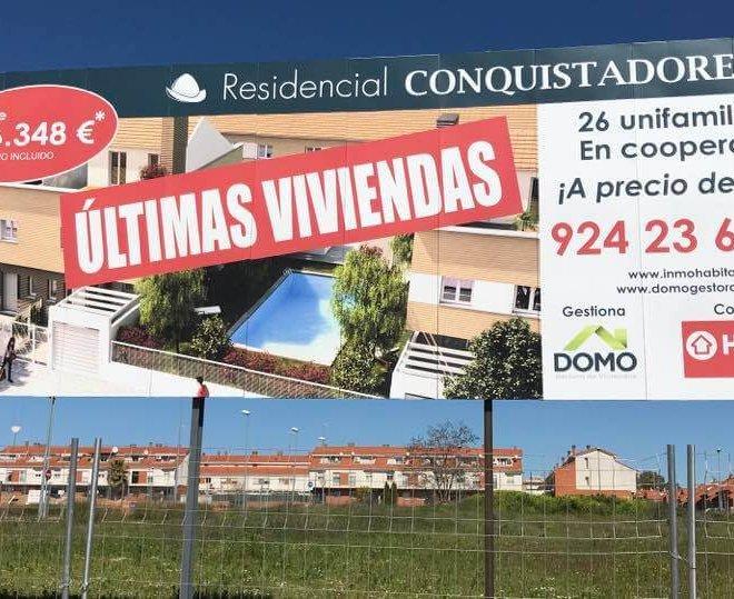 valla publicitaria para promociones Inmobiliarias